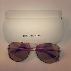 Michael Kors Rose Gold Sunglasses